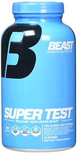 Beast Sports Nutrition 2 Piece Supertest 180 Capsules, 360 Count