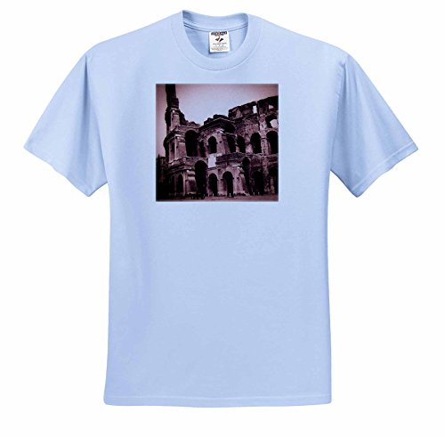 Scenes from the Past Magic Lantern - Ancient Rome The Colosseum Entrance Roman Italian History 1890 - T-Shirts - Youth Light-Blue-T-Shirt Large(14-16) (ts_246128_62)