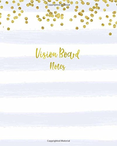 Vision Board Notes: Bullet Journal, Dot Grid Dotted 8 x 10 Notebook, Sketchbook Practice Book for Vision Board Ideas, Goals, Plans, Hand Lettering. Purple Gold Dot Journal makes a Perfect Gift