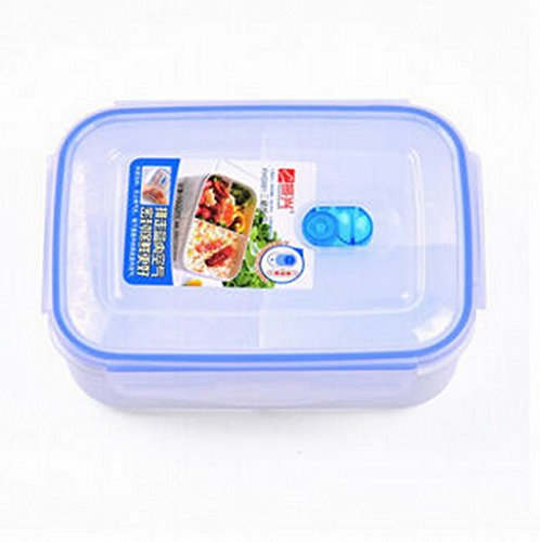 JAZS® De gran capacidad de tres celdas almuerzos frescos almuerzo caja de comidas separadas Seal Portable hornos de microondas congelados de doble uso de ...
