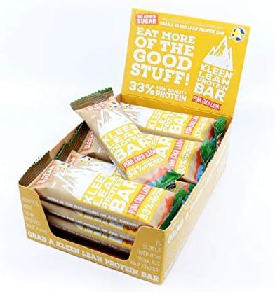 16 Proteinriegel Whey ohne Zucker 'Klean Lean' 50 g – Geschmack Pina Coco Lada