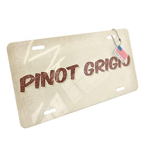 NEONBLOND Pinot Grigio Wine, Vintage Style Aluminum License Plate