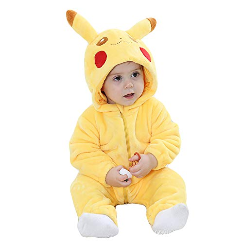 Unisex-Baby Flannel Romper Animal Onesie Pajamas Outfits
