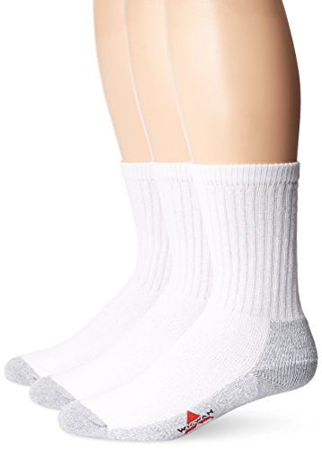 Wigwam Men's At Work 3-Pack Crew Socks,White/Grey, ,Sock size : Medium ( shoe Size : Men's 5-9.5 , Women's - Men Size 5