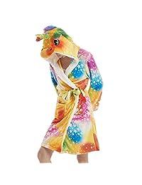 Belgius Women Fleece Robe Cartoon Design Flannel Bathrobe Hoodie Winter Sleepwear