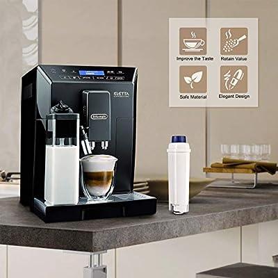 Rhodesy 4 Cafetera Automática Filtro para DeLonghi DLSC002, DeLonghi Filtro de Agua Cartuchosde Carbón Activado para DeLonghi ECAM ESAM ETAM BCO, Paquete de 4: Amazon.es: Hogar