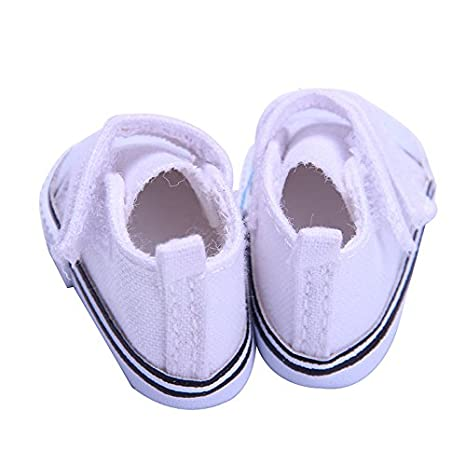 Blanco Yudanwin Fiestas 14 Pulgadas Cute Girl Doll Shoes Doll Dress Accesorios de Juguete