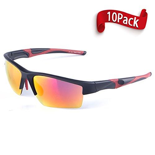 Zhara Unisex Semi-Rim Sunglasses Lightweight Frame UV408 For Outdoor Activities Running Trekking Baseball Tennis Beach ball Racing Driving - Men Women - Lose Can Uv Protection Sunglasses