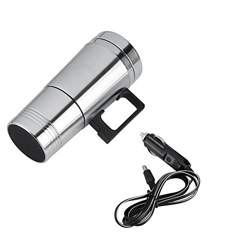 Vehicle Heating Cup Heated Travel Mug with Lid Car Heating Cup, Electric Car Cup, Heated Travel Mug, Travel Heating Mug…