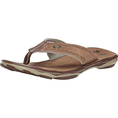 Thong Men's Armour Mahogany Dune Toxic Brown Cleveland UA Six Leather Under Sandal pfxTOFx