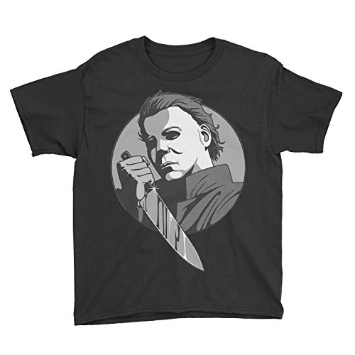Kids Michael Myers Youth T-Shirt (M, Black) ()