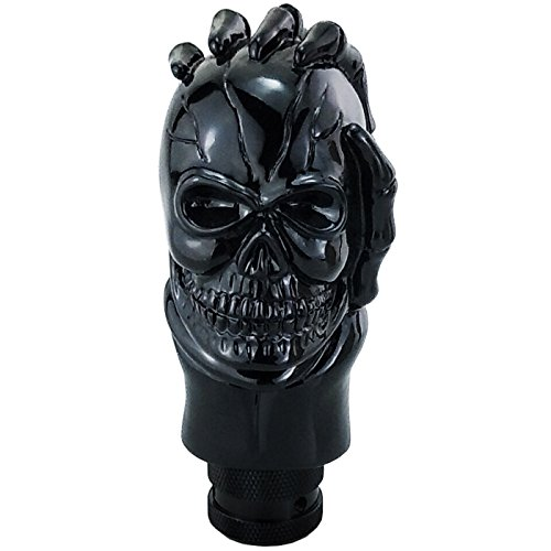 Lensuntom LUNSOM Cool Shifter Knobs Automatic Transmission Skull Gear Stick Shift Handle Knob Shift Black Shifts Lever for Car Accessories