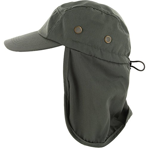 DealStock Fishing Cap with Ear and Neck Flap Cover - Outdoor Sun -