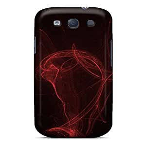 Hot JEvBHuS3934blxph Case Cover Protector For Galaxy S3- Lighting Red