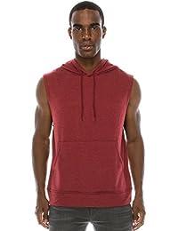 Mens Hipster Hip Hop Hooded Tanktop Drawstring Hoodie Pocket (Big Sizes)