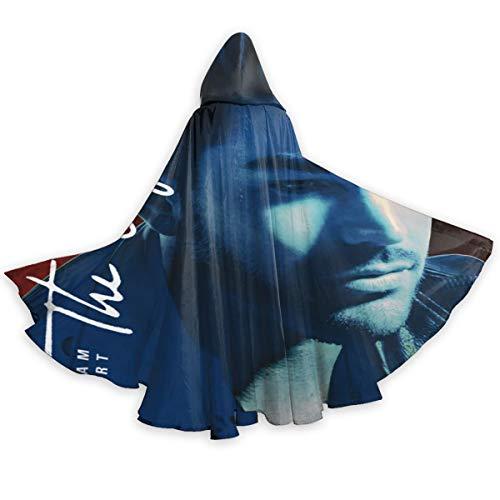 Adam Lambert The Original High Hooded Cloak Long Polyester Cape for Christmas Halloween Cosplay Costumes 59inch Black