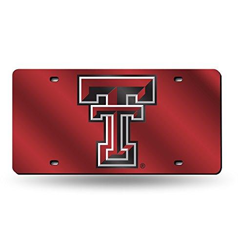 NCAA Texas Tech Red Raiders Laser Inlaid Metal License Plate ()