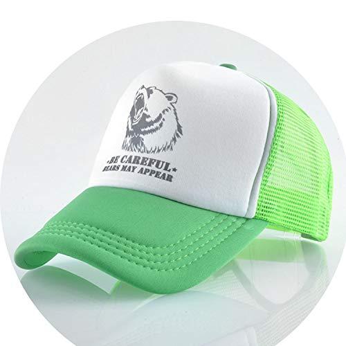 櫛他のバンドで豆通気性のある グリッド スポーツ帽子 夏キャップ 男の子 キャップ,緑