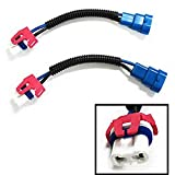iJDMTOY 9005 9145 HB3 H10 Heavy Duty Ceramic Wiring Harness Sockets Compatible With Headlights or Fog Lights