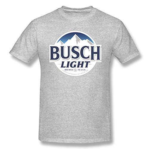 Fullcourttj Beer Busch Light Leisure Fashion Summertime Gray XL Short Sleeve T-Shirt