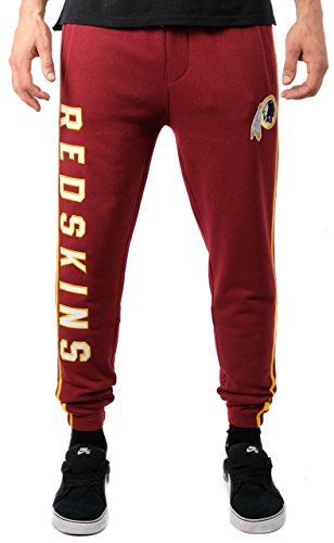 ICER Brands Adult Men Jogger Pants Active Basic Fleece Sweatpants, Team Color Stripe, Medium