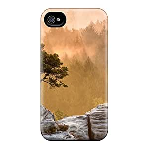 Top Quality Case Cover For Iphone 4/4s Case With Nice Morning Mist Appearance