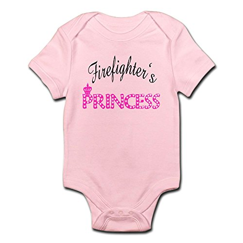 Firefighter's Princess - Cute Infant Bodysuit Baby Romper