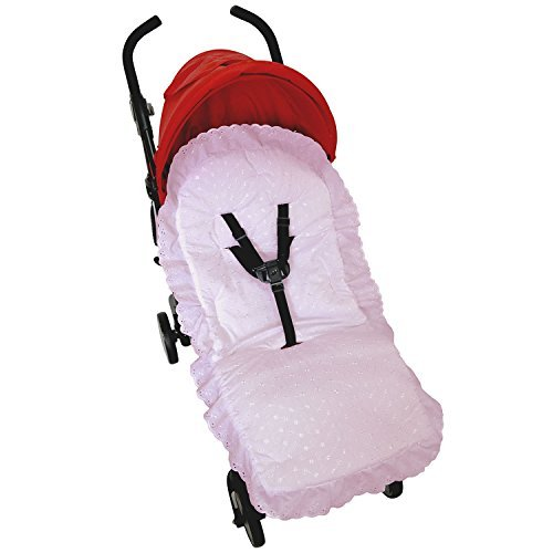 Broderie Anglaise Seat Liner Compatible with Jane Buggy Pushchair Pink