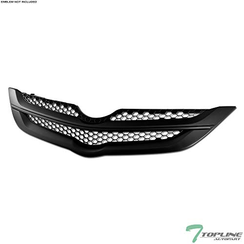 (Topline Autopart Matte Black OE Honeycomb Mesh Front Hood Bumper Grill Grille ABS For 06/07-09 Toyota Yaris 4 Door Sedan)