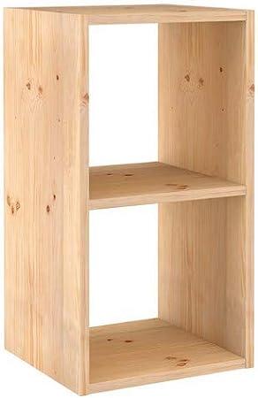 Europe Nature Etagere 2 Cubes Wooden Beige 14 5 X 33 X 70 8 Amazon Co Uk Kitchen Home