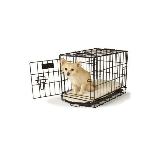 Petco Classic 1-Door Dog Crate, Small, Black
