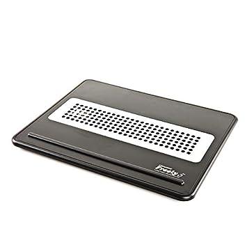 THOR-BEI Refrigerador para computadora portátil: Panel de Aluminio portátil Plegable con Calor móvil sin Ventilador Dual para 15.6 Pulgadas o Menos (Negro) ...