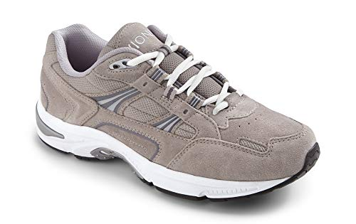 Vionic Men's Walker Classic Shoes - Walking Lace-up with Concealed Orthotic Arch Support Grey 10.5 M US