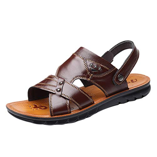 Summer Shoes for Men,WEUIE Casual Shoes Beach Treads Slip-On Slippers Water Athletic Leather Sandals