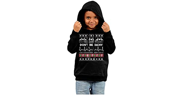 Anutknow Black White Rabbit Tattoo Design Childrens Fashion Casual Hooded Pocket Sweater