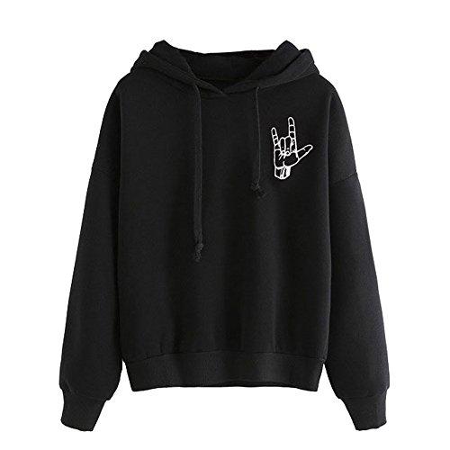 Hersoky Womens Sleeve Hoodie Sweatshirt product image