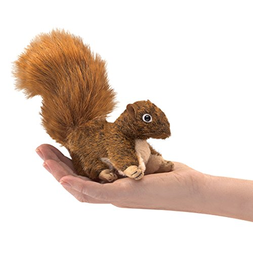 Folkmanis Mini Red Squirrel Finger Puppet