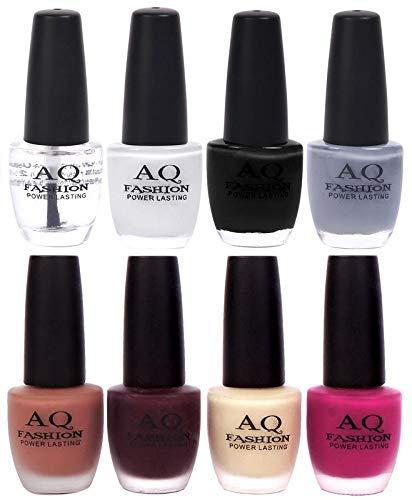 AQ Fashion Velvet Matte with Shiny Gel Nail Polish Combo Set 12658