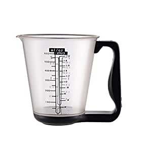 Ostrosi Black Electronic Digital Jug Kitchen Scale Detachable Measuring Cup Measurement