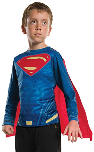 Superman Products : Rubie's Costume Batman v Superman: Dawn of Justice Superman Child Top, Large
