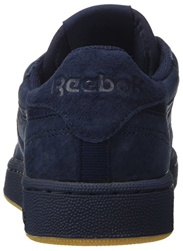 Reebok Club C 85 Tg, Zapatillas de Gimnasia para Hombre Azul (Collegiate Navy/night Navy/gum)