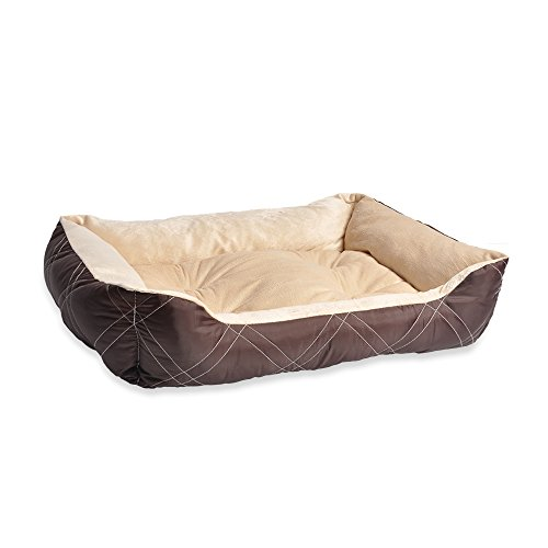 Reversible Bolster Beds - Happycare Textiles All Season Reversible Pet Bed 25