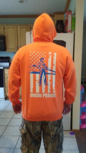 Custom Ironworker Hoodie Ironworker with beam and American Flag