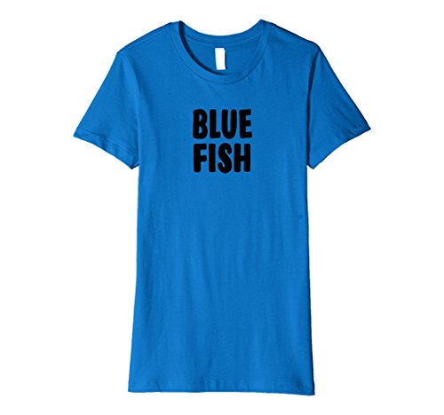 Womens Blue Fish Halloween Costume T-shirt Easy Group Idea Large Royal Blue -