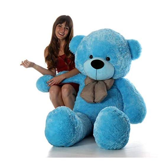 VAISHNO Stuffed Spongy Huggable Imported Teddy Bear - 60 cm, Blue