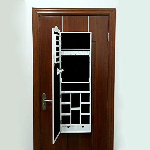 Songmics 3 in 1 (Standspiegel Wandschrank Schmuckschrank mit Aufhängehaken) 156 cm JBC84W - 6