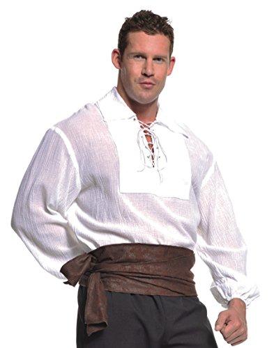 Underwraps Costumes  Men's Renaissance Pirate Shirt, White, One Size ()
