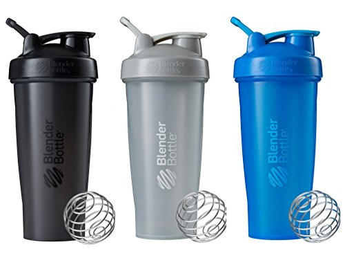 BlenderBottle Classic Loop Top Shaker Bottle 3-Pack, 28 oz, Colors may vary 28 Ounce Blender Bottle