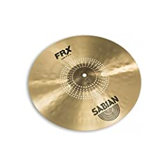 """The SABIAN 16"""" FRX Crash is a pro-level, extra-thin B20 Bronze crash that delivers quick, shimmering response and exceptionally soft feel. SABIAN FRX (Frequency Reduced) cymbals are designed for playing environments where other cymbals have t..."""