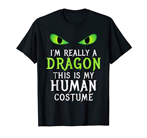 Funny Scary Dragon Costume Halloween Shirt for Women